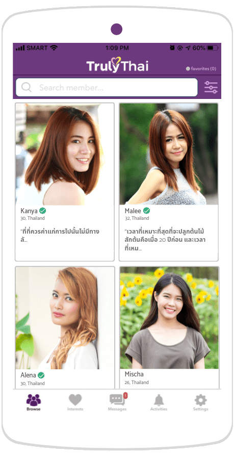 single profiles interested in Thai dating