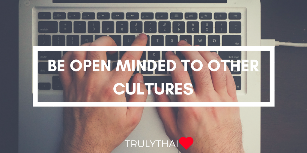 online dating tip about being open minded to culture