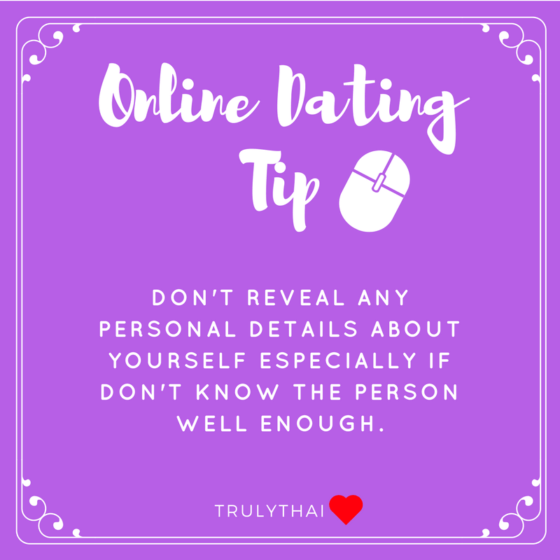 Online dating tip about sharing your private information