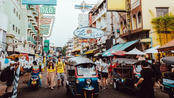 a local market in thailand