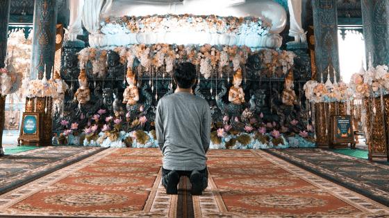 A Thai man praying